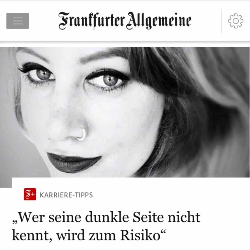 """""""Wer seine dunkle Seite nicht kennt, wird zum Risiko"""" – FAZInterview"""